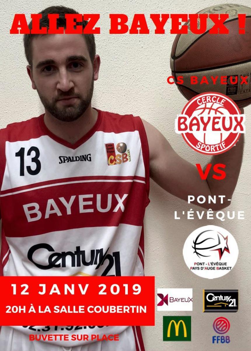 Affiche du match Bayeux - Pont l'Évêque