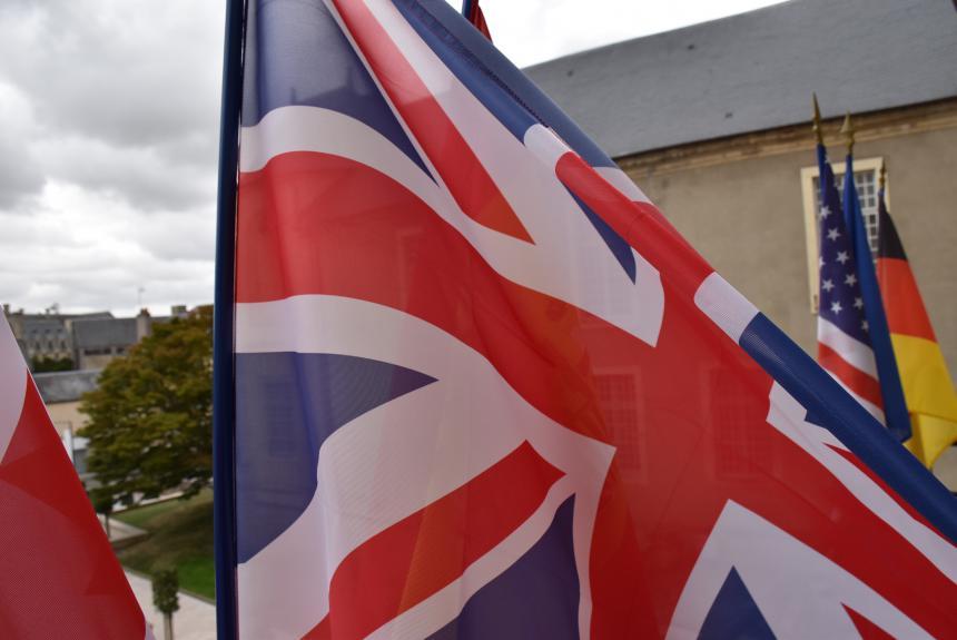 Drapeau britannique à Bayeux