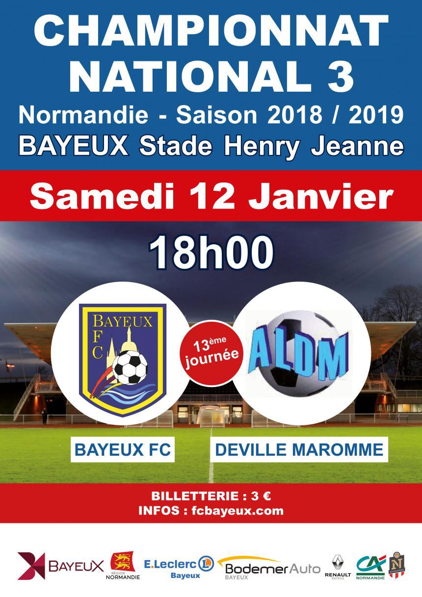 Affiche match de football Bayeux - Deville Maromme