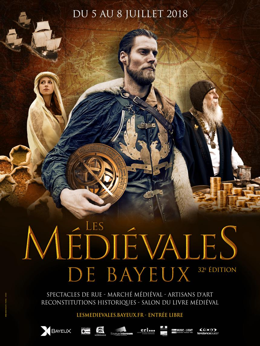 Affiche Médiévales de Bayeux 2018