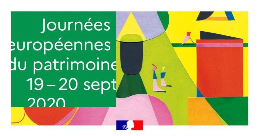 Visuel officiel des journées européennes du patrimoine 2020