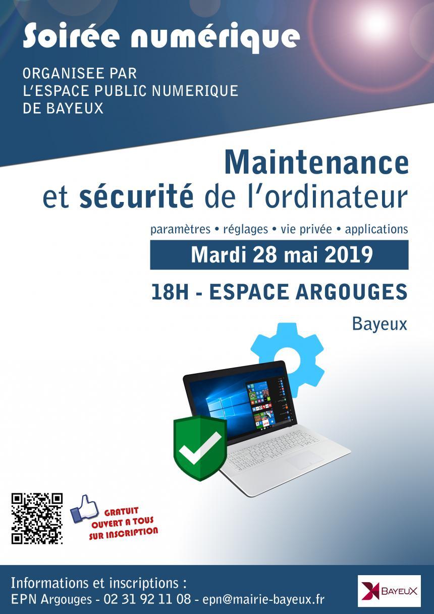 Affiche soirée numérique le 28 mai 2019 à Bayeux