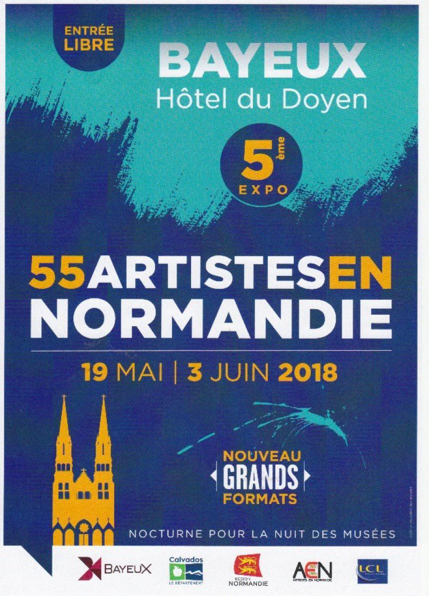 Affiche Exposition 55 artistes en Normandie