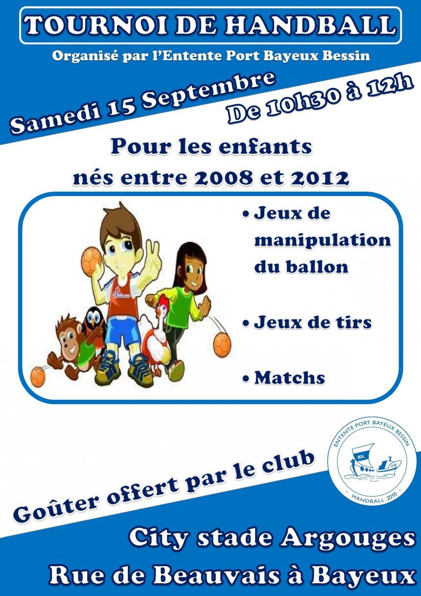 Affiche tournoi de handball à Bayeux