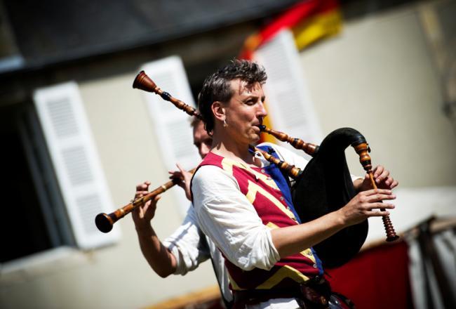 29es Médiévales - Musicien © Virginie Meigné